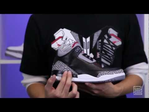 2011 Air Jordan Retro III 136064-010 black cement