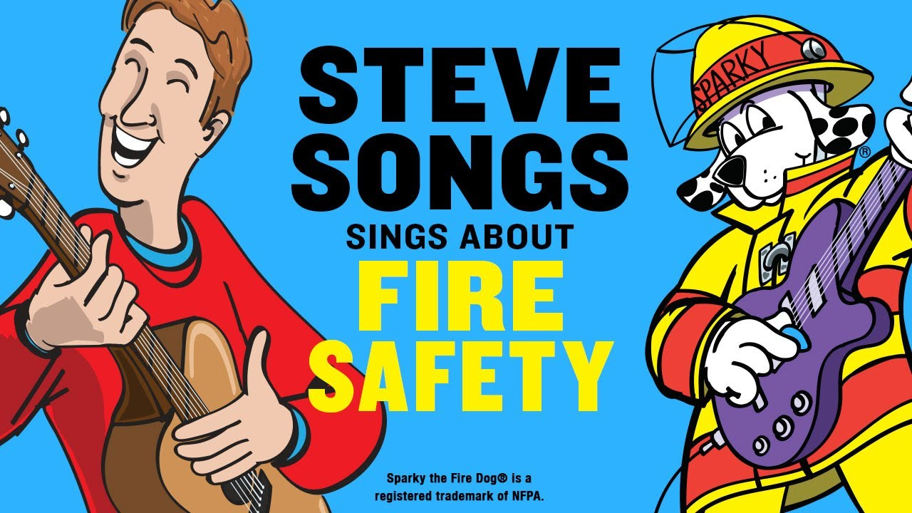 Safety video for kids with stevesongs amp sparky the fire dog youtube