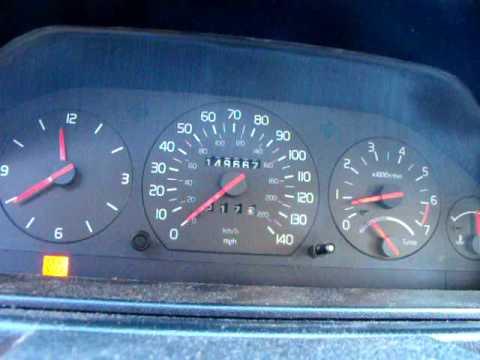 1991 Volvo 740 Turbo speedometer malfunction - YouTube