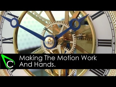 How To Make A Clock In The Home Machine Shop - Part 16 - Making The Motion Work And Hands