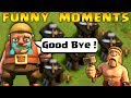 COC Funny Moments Glitches Fails Wins And Trolls Compilation 3 CLASh OF CLANS Builder Left mp3