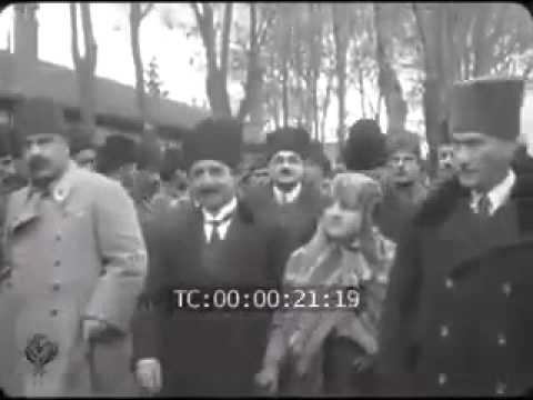 Atatürk'ün Eskişehir ziyaretinden görüntüler