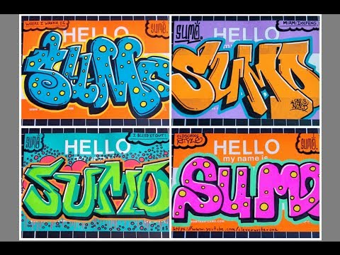 Graffiti sur toile ◊◊◊ HELLO MY NAME IS stickers