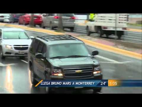 Las Noticias - Las Noticias - Bruno Mars Llegó a Monterrey
