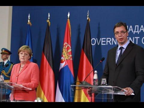 Premijer Vučić i kancelarka Merkel - konferencija za novinare (8.7.2015.)
