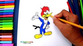 How to draw Woody Woodpecker | Cómo dibujar al Pájaro Loco (paso a paso)