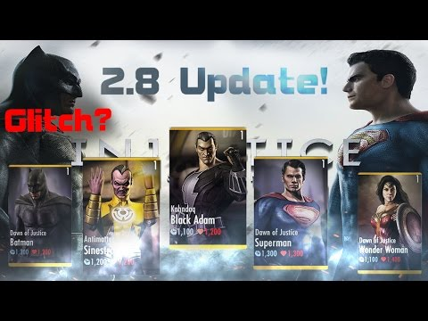 New Characters! 2.8 Update! Injustice Gods Among Us! IOS/Android