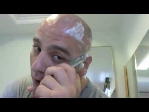 Straight Razor Head & Face Shave With GOLD DOLLAR