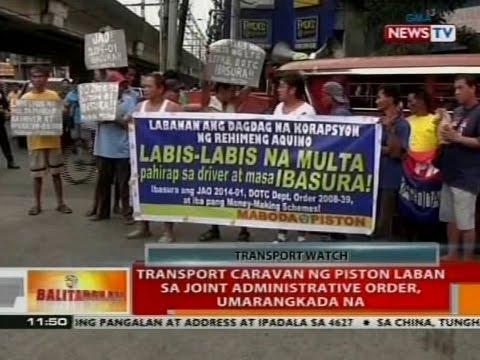 BT: Transport caravan ng Piston laban sa joint administrative order, umarangkada na