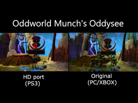 Oddworld Munch's Oddysee HD Comparison: PS3 vs XBOX/PC