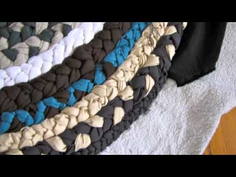 How to create a mat of waste cloth youtube for Waste material handicrafts