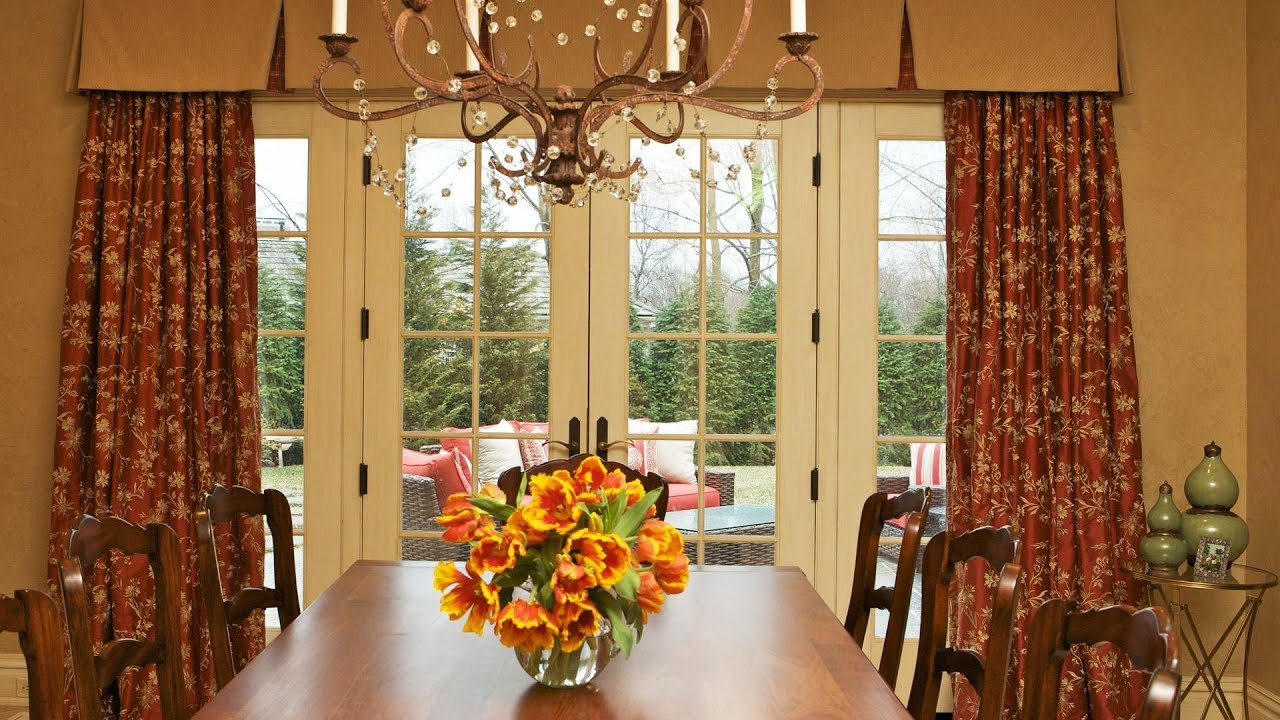 Window treatments for french doors interior design youtube for French window design