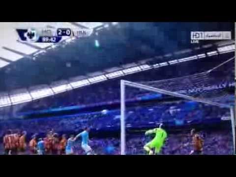 yaya Toure Amazing Free Kick Goal vs Hull City - Manchester City 2-0 Hull City (31.08.2013)