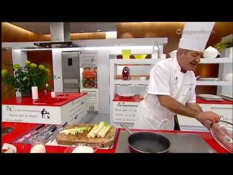 Karlos argui ano en tu cocina quiche de puerros y gambas for Cocina carlos arguinano