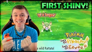 """SHINY RATTATA!"" FIRST SHINY in Pokémon Let's Go Pikachu & Let's Go Eevee! #01"