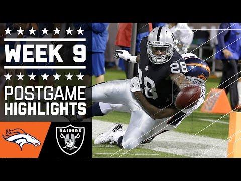 Broncos Vs Raiders Nfl Week 9 Game Highlights