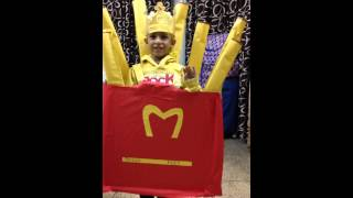 Fancy dress competition french fries jass