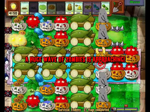 Plants vs zombies survival endless easter mod