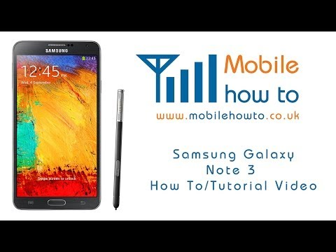 How To Set A Contact Specific Message Alert Tone -  Samsung Galaxy Note 3 video