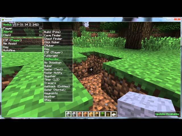 Minecraft Hack Nodus 1.2.5 + Download