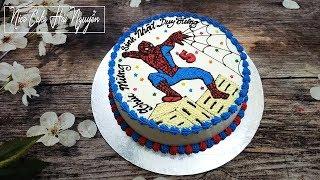 Bánh Sinh Nhật Vẽ Hình Người Nhện Cực Nhanh Và Đơn Giản - Draw Spider Man On Cake
