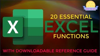 20 Essential Excel Functions with Downloadable Reference Guide