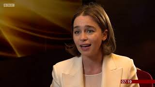 GOT Emilia Clarke talks about her campaign for improved treatment for young stroke patients