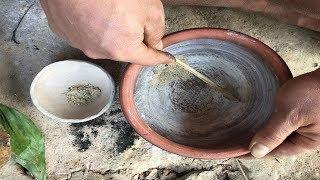 Primitive Technology:Salt From Woods-Primitive life-wilderness!