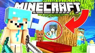 MINECRAFT BABY BED WARS! THEY CAN'T CATCH US!!