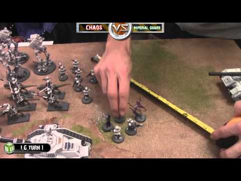 0 Imperial Guard Vs Chaos Space Marines Warhammer 40k Battle Report   Banter Batrep Ep 8   Part 1/4