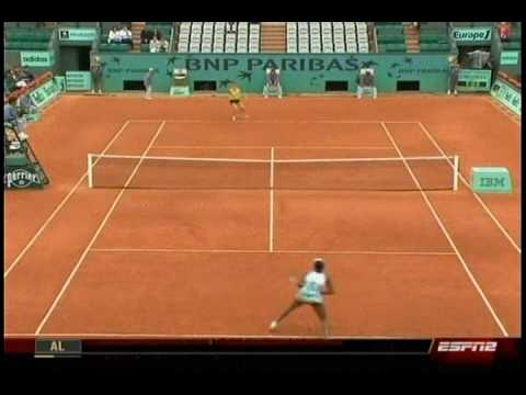 Venus Williams VS Lucie Safarova 1/10- French Open 2009- 2nd Round Video