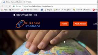 How to renew or recharge Alliance Broadband Internet Pack Online