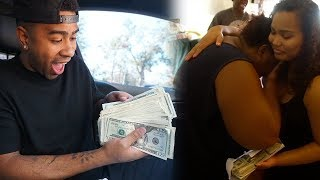 SHE ALMOST DIED...SURPRISING A FAMILY THOUSANDS IN CASH & A UNLIMITED SHOPPING SPREE!!! (EMOTIONAL)