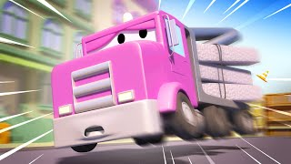 Tom the Tow Truck -  Emergency breaking - Car City ! Cars and Trucks Cartoon for kids