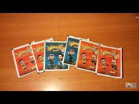"Распаковка наклеек GOOLMANIA 2018 {|} Открытие 5 пачек ""Goolmania"" {