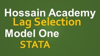 Lag selection. Model One. STATA