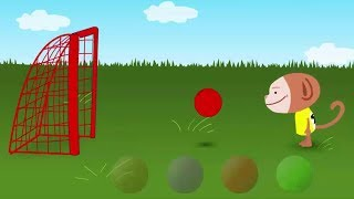 Kick The Ball Game For Kids - Oliver World - Learn Colors With Soccer Ball