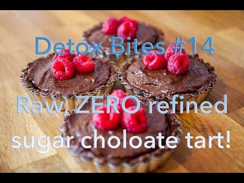 Valentines Choloate Tart, raw and ZERO refined sugar! - Detox Bites #14