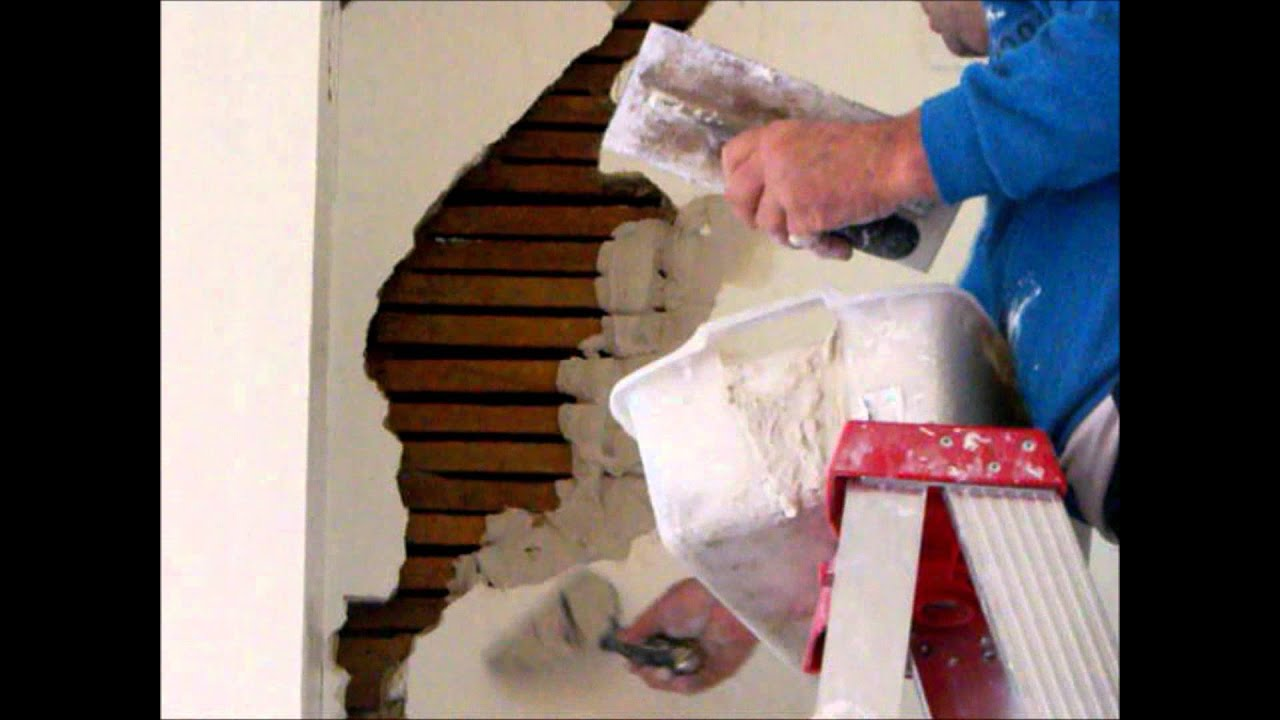 Plastering Wall Repairs Lath Amp Plaster Large Hole Part 1
