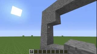 Minecraft icatları: Bölüm #3 Şalter ile açılan taş kapı