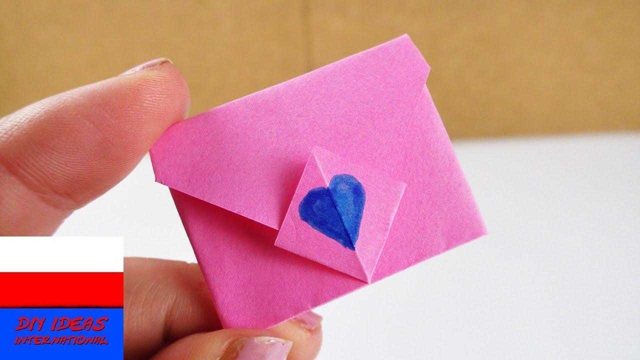 Składanie koperty | urocza mini koperta z pomysłowym zamknięciem | niespodzianka