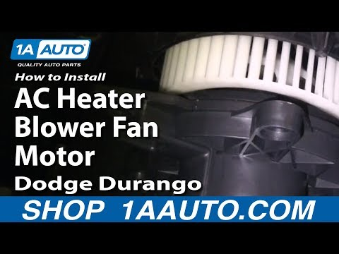 How to Install Replace AC Heater Blower Fan Motor Dodge Durango 04-09 1AAuto.com