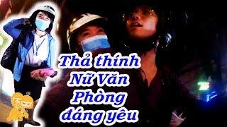 Xe Ôm Vlog - Thả thính chị khách NỮ VĂN PHÒNG đang yêu...!!!