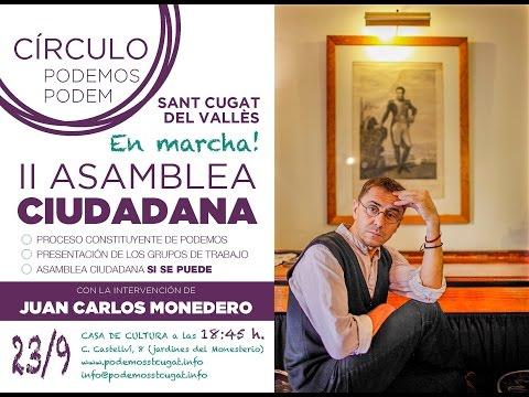 Acto de Juan Carlos Monedero en Sant Cugat 23 09 2014