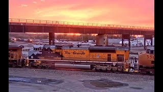 BNSF CLOAKING NOT WORKING,   UP 1989 RIO GRANDE AT SUNSET & MORE!