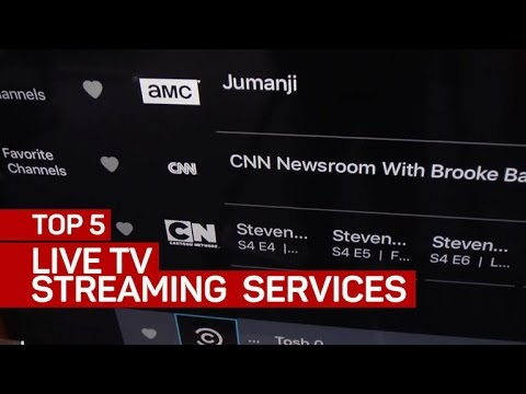 Top 5 live TV streaming services (CNET Top 5)