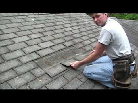 How To Remove Shingles To Do A Repair Youtube