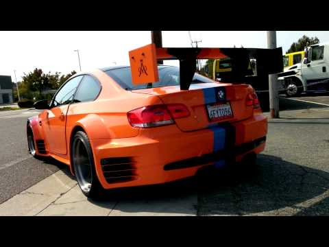 BMW M3 with GT2 body kit acceleration