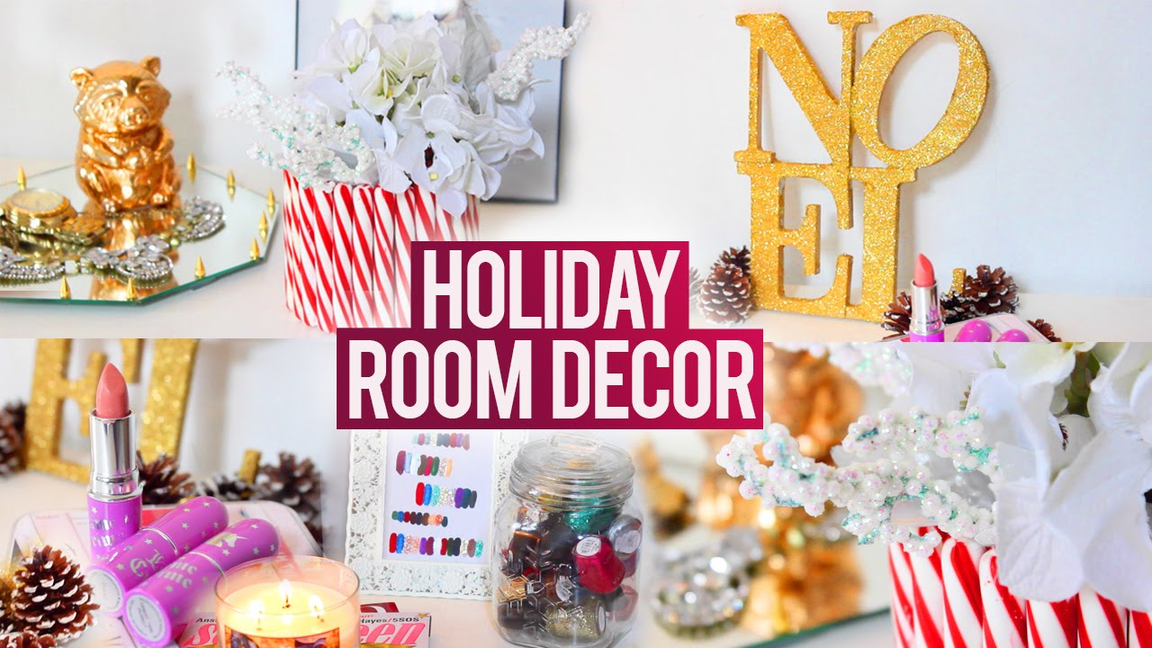 diy tumblr holiday room decorations easy fun and affordable youtube. Black Bedroom Furniture Sets. Home Design Ideas
