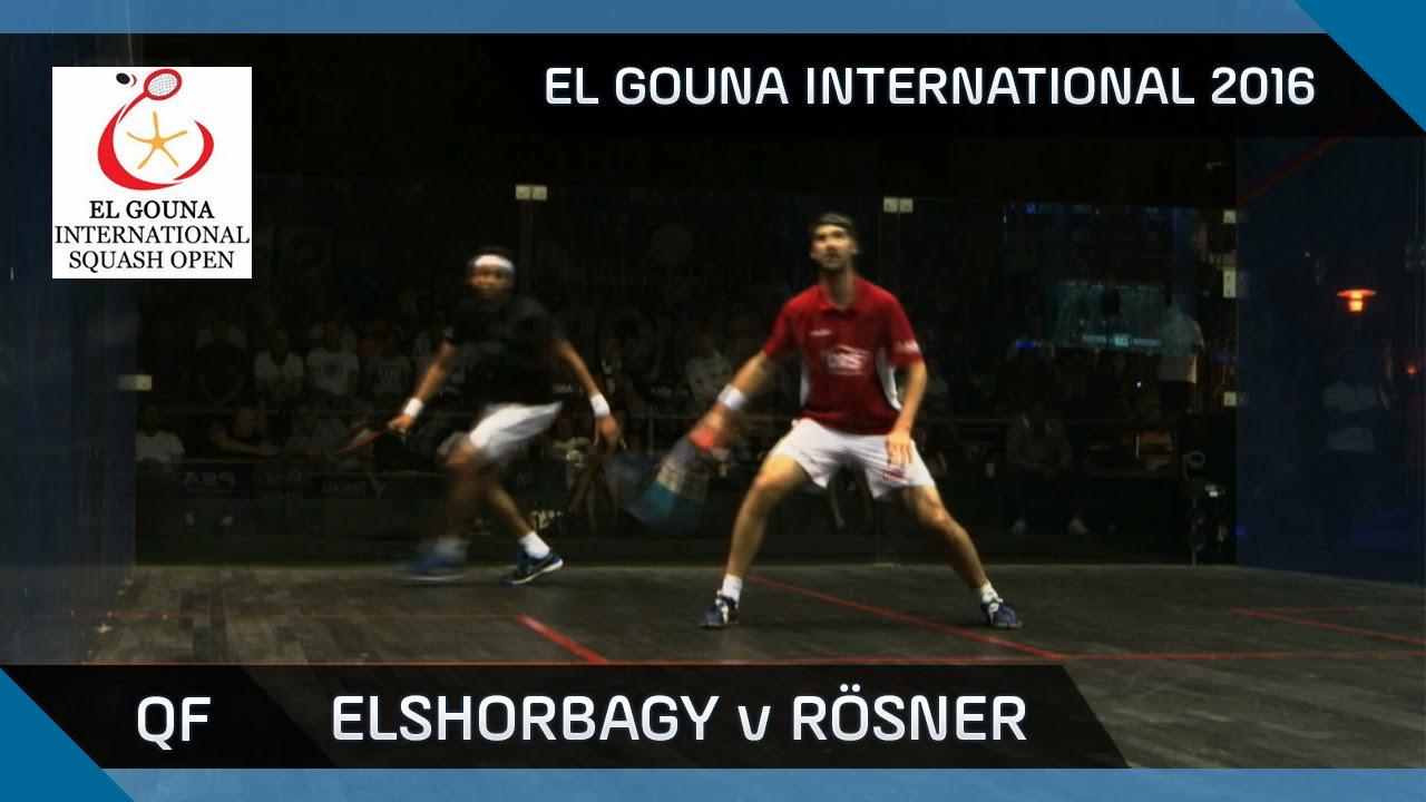 Squash: Mo. Elshorbagy v Rösner - El Gouna International 2016 QF Highlights